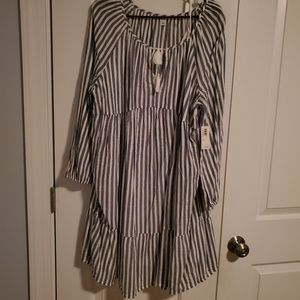 NWT OLD NAVY BLUE AND WHITE DRESS